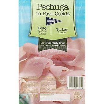 HIPERCOR pechuga de pavo extra en lonchas muy finas  envase 125 g