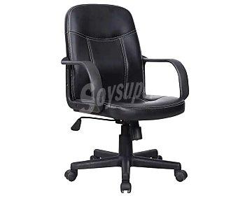 Sdpe Silla de oficina o escritorio de color negro regulable de 91 a 101 centímetroscon reposabrazos modelo Desk, fabricada en Pvc y polipiel acolchada, 101x58 centímetros. sdpe