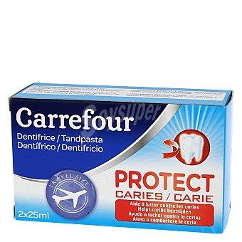 Carrefour Kit mini dentifricos proteccion caries Pack 2x25 ml