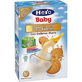 Hero Baby Papilla instantánea de cereales para biberón con galletas María Paquete 600 g