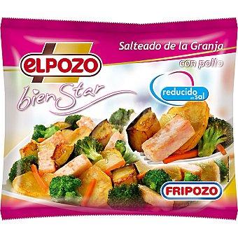 ElPozo Salteado de la Granja con pollo reducido en sal Bienestar Bolsa 400 g
