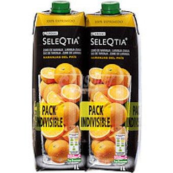 Eroski Seleqtia Zumo de naranja exprimido Pack 2x1 litro