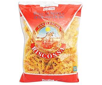 RISCOSSA Espirales Nº50, pasta de sémola de trigo duro de calidad superior 500 Gramos