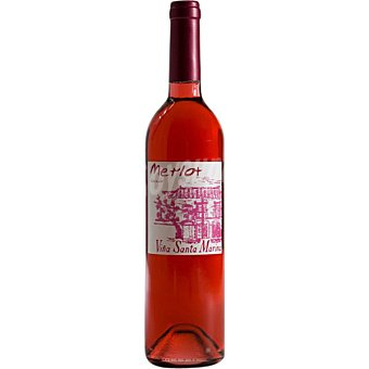 VIÑA SANTA MARINA Vino rosado merlot de Extremadura  Botella de 75 cl