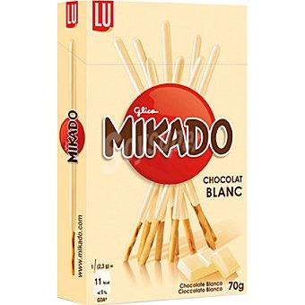 Mikado palitos de galleta recubiertos de chocolate blanco  paquete 75 g
