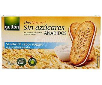 Gullón Galleta sandwich con sabor a yogur con cereales integrales y sin azúcares añadidos 220 g
