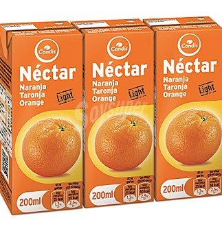 Condis Nectar naranja sin azucar light 3 unidades