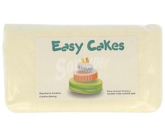 EASY CAKES Pasta de azúcar de cobertura y modelare de color blanco 250 gramos