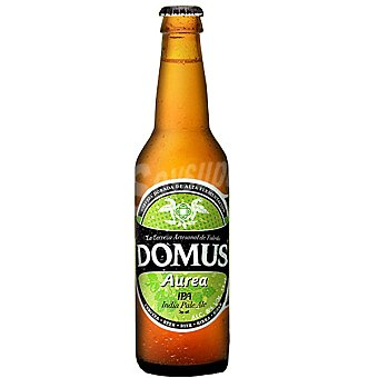 DOMUS Aurea IPA cerveza rubia tipo Indian Pale Ale artesanal de Toledo botella 33 cl Botella 33 cl