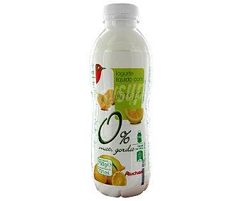 Auchan Yogur líquido con limón, 0% materia grasa edulcorado 750 gramos