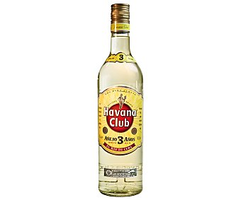 Havana Club Ron añejo 3 años Botella 70 cl
