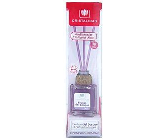 Cristalinas Ambientador de varillas con aroma frutas del bosque (optimismo) 18 ml