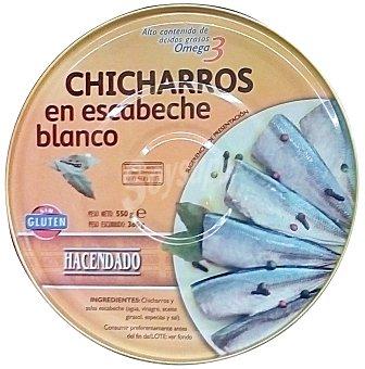 Hacendado Chicharros en escabeche blanco Lata 550 g escurrido 360 g