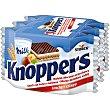 Galletas de barquillo con leche y avellanas 3 envases individuales  Knoppers