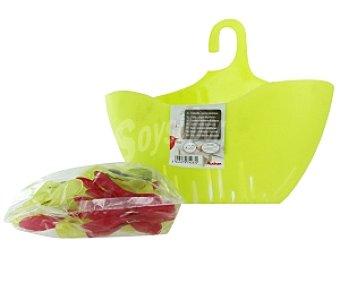 Auchan Cestillo para pinzas verde + 20 pinzas 1 Unidad