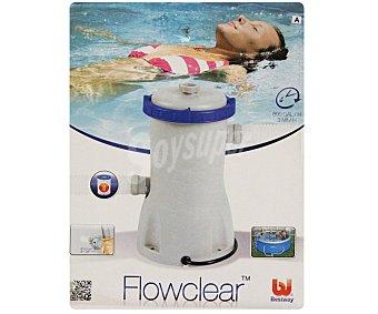 BESTWAY Depuradora de cartucho con potencia de 3028 litros/hora, ideal para piscinas desmotables de tamaño pequeño 1 unidad