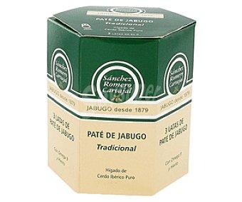 Sánchez Romero Carvajal Paté de jabugo Pack de 3 latas de 80 g