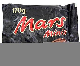 MARS Minis Barritas de chocolate (chocolate con leche relleno de caramelo y leche malteada) 13 unidades (170 g)