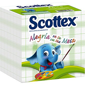 Scottex Servilletas estilo 1 capa Paquete 64 unidades