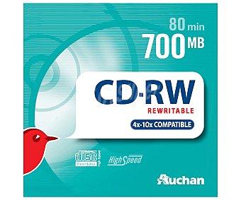 Auchan Estuche Slim 5 CDRW 4X 10X 5 unidades