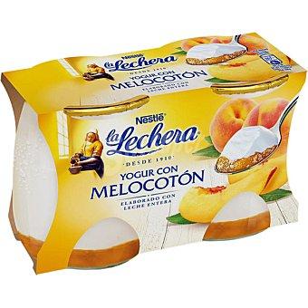 La Lechera Nestlé Yogur enriquecido con melocotón Pack 2x125 g