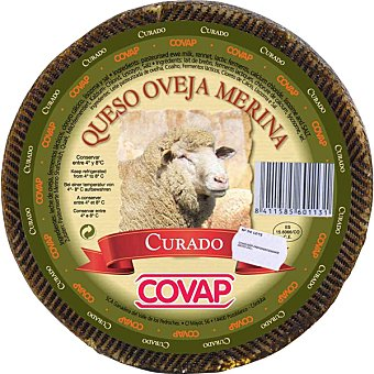 Covap Queso curado de leche de oveja merina peso aproximado pieza 3 kg 3 kg