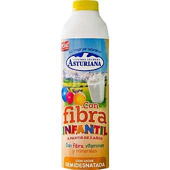 Central Lechera Asturiana Preparado lácteo de leche semidesnatada con fibra, vitaminas y minerales Envase 1 l