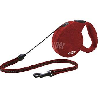 BIOZOO AXIS FLEXI CLASSIC Correa extensible color rojo cordón de 5 metros para perros de peso aproximado 20 kg 1 unidad