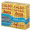 Caldo natural de pollo bajo en sal Aneto sin gluten y sin lactosa Pack 2 x 1 l Aneto