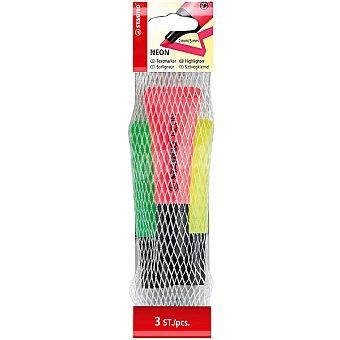 STABILO Neon Pack de 3 fluorescentes en colores variados Pack de 3