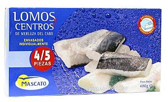 Mascato Merluza congelada lomos y centros Paquete 400 g