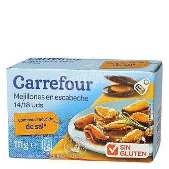 Carrefour Mejillones en escabeche bajo en sal 14/18 69 g