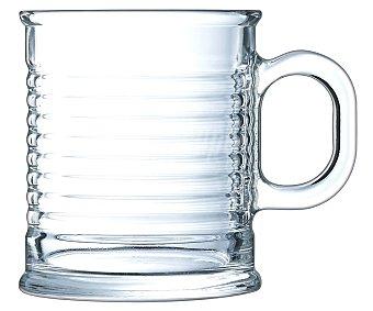 LUMINARC Conserve Moi Taza alta de vidrio transparente con diseño en relieve, 0,25 litros., Conserve moi LUMINARC. 0,25 litros