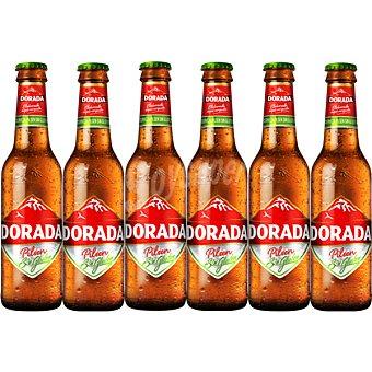 Dorada Cerveza rubia sin gluten Pack 6 botellas 25 cl