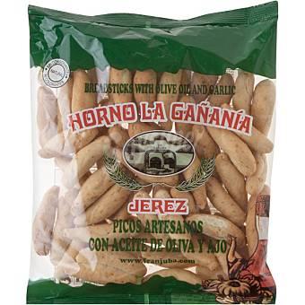 HORNO LA GAÑANIA Picos de pan artesanos con aceite de oliva y ajo bolsa 200 g Bolsa 200 g