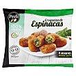 Croquetas congeladas de espinacas 100% vegetal  Paquete 350 g Preli