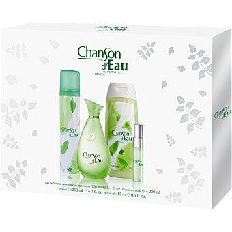 Chanson D'Eau eau de toilette femenina + desodorante spray 200 ml + gel de baño frasco 200 ml + perfumador 15 ml spray 100 ml