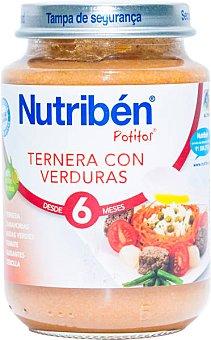 Nutribén Potito de ternera con verduras 200 g