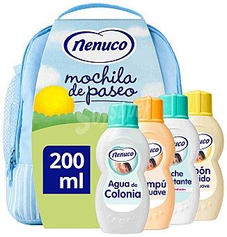 Nenuco Mochila azul con agua de colonia + jabón líquido + champú + leche hidratante 1 Unidad