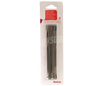 Auchan Pack de 8 tenedores para mariscos, fabricados acero inoxidable 18/10 1 Unidad