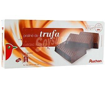 Auchan Turrón praliné de trufa 300 gramos