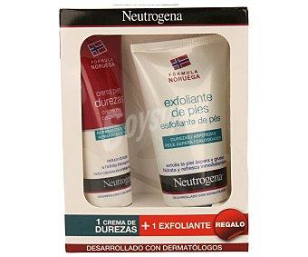 Neutrogena Crema para pies especial para reducir durezas + regalo exfoliante de pies 100 ml + 75 ml