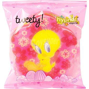 HYPNOS Tweety Esponja de baño Piolín Rosa Bolsa 1 unidad