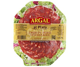 ARGAL Chorizo Regio Sin Gluten Bandeja de 75gr