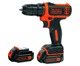 Black&Decker Taladro atornillador 10.8V 1.5Ah Litio 2 decker