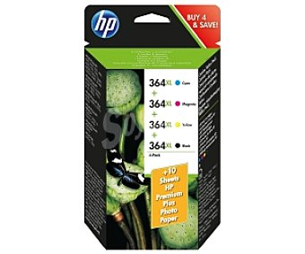 HP Pack cartuchos 4 Colores 364XL HP Compatible con Impresoras: