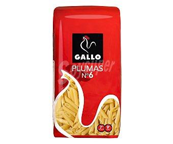 Gallo Plumas nº 6, pasta de sémola de trigo duro de calidad superior Paquete de 1 Kilo