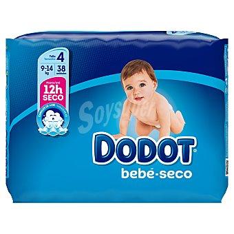Dodot Azul pañales 9-14 kgs talla 4 paquete 38 uds paquete 38 uds