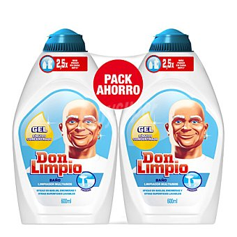 Don Limpio Limpiador multiusos baño pack de 2x600 ml