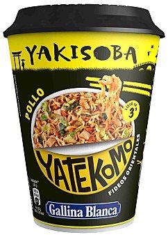 Yatekomo Gallina Blanca Fideos orientales pollo Yakisoba Vaso de 93 g